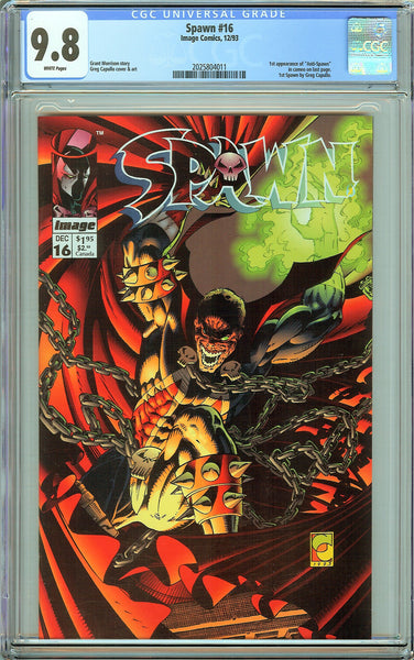 Spawn #16 CGC 9.8 White Pages (1993) 2025804011 Anti-Spawn