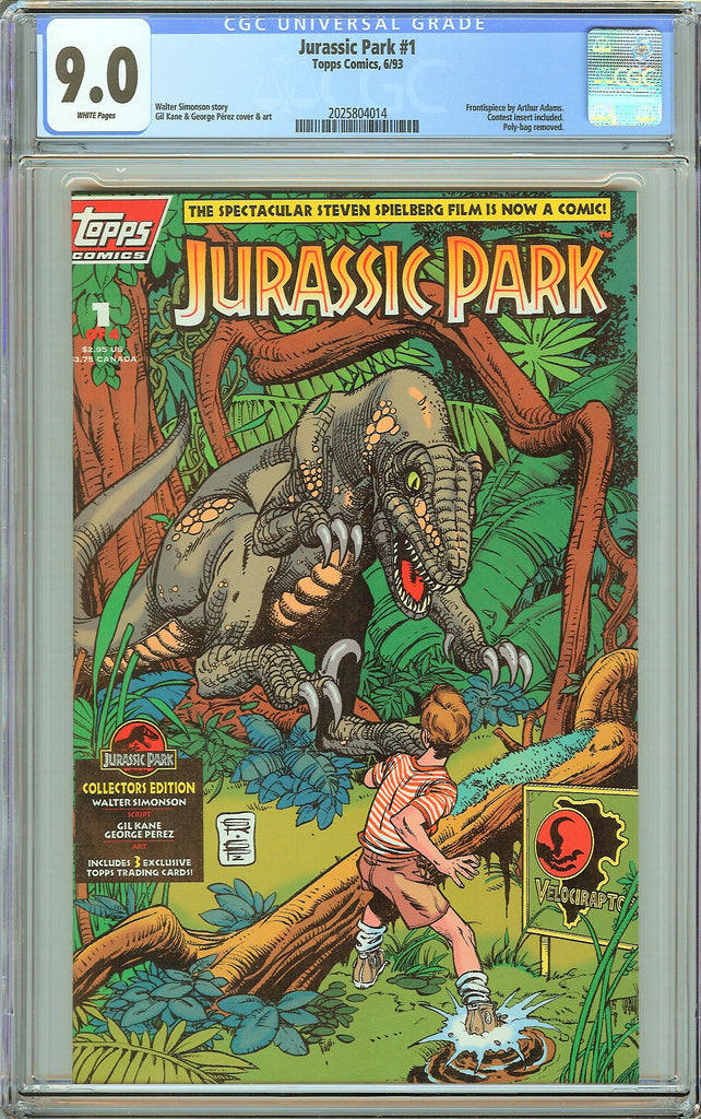 Jurassic Park #1 Topps Comics CGC 9.0 White Pages (1993) 2025804014