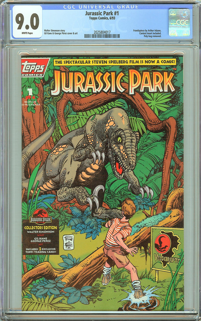 Jurassic Park #1 Topps Comics CGC 9.0 White Pages (1993) 2025804017