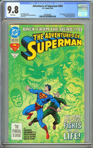 Adventures of Superman #500 CGC 9.8 White Pages 2025804022 1st Steel