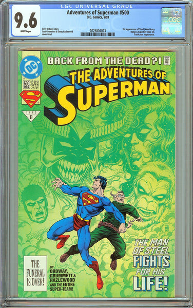 Adventures of Superman #500 CGC 9.6 White Pages 2025804023 1st Steel