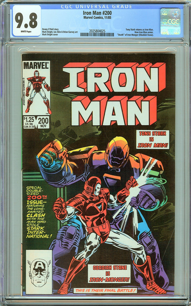 Iron Man #200 CGC 9.8 White Pages (1985) 2025804025