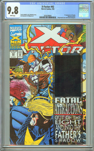 X-Factor #92 CGC 9.8 White Pages (1993) 2026290001 1st Exodus