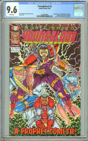 Youngblood #2 CGC 9.6 White Pages (1992) 2026290005