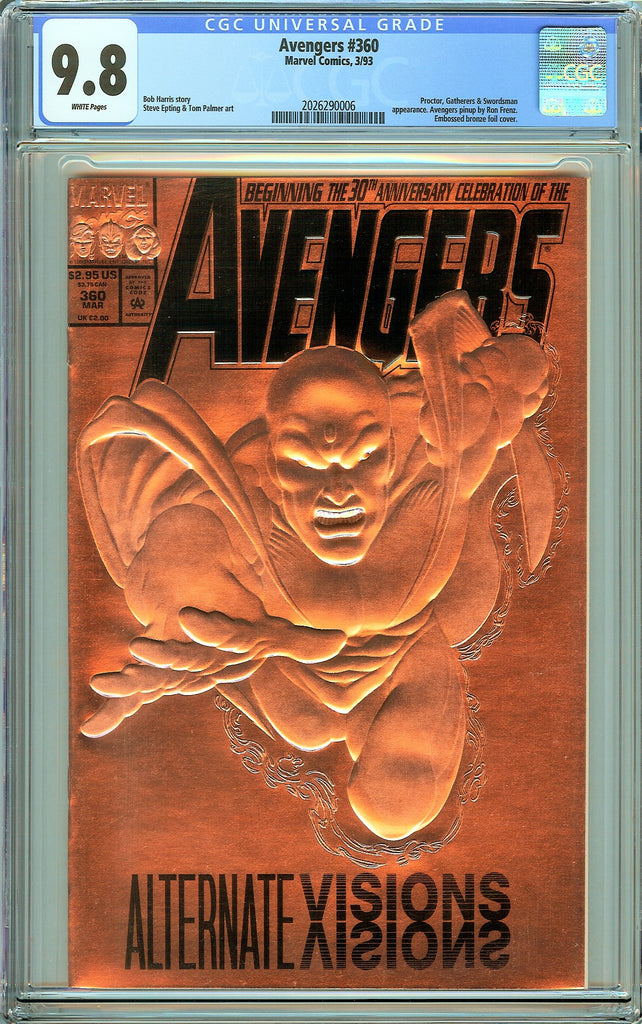 Avengers #360 CGC 9.8 White Pages (1993) 2026290006