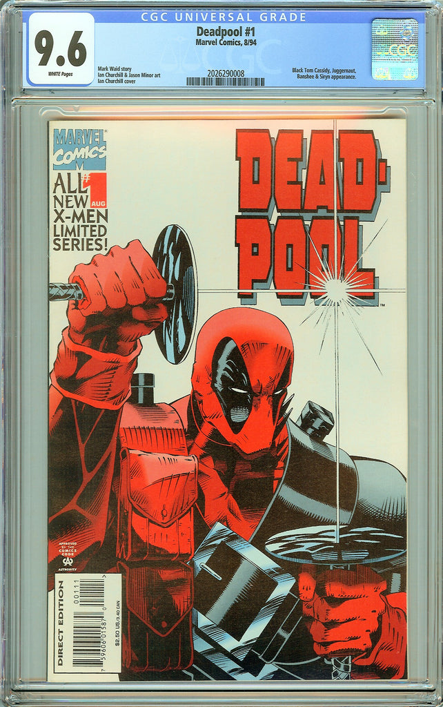Deadpool #1 CGC 9.6 White Pages (Limited Series 1994) 2026290008