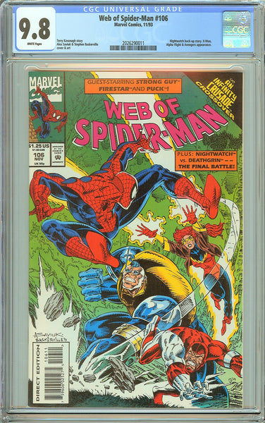 Web of Spider-Man #106 CGC 9.8 White Pages (1993) 2026290011
