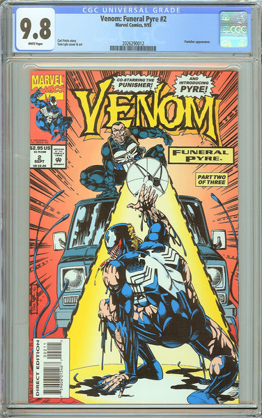 Venom Funeral Pyre #2 CGC 9.8 White Pages (1993) 2026290012