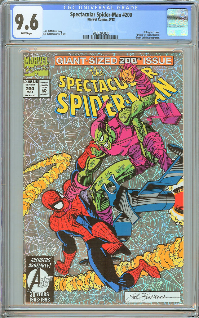 Spectacular Spider-Man #200 CGC 9.6 White Pages (1993) 2026290020