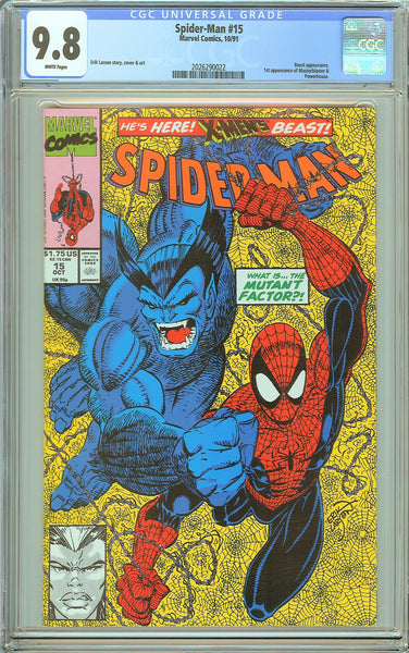 Spider-Man #15 CGC 9.8 White Pages (1991) 2026290022