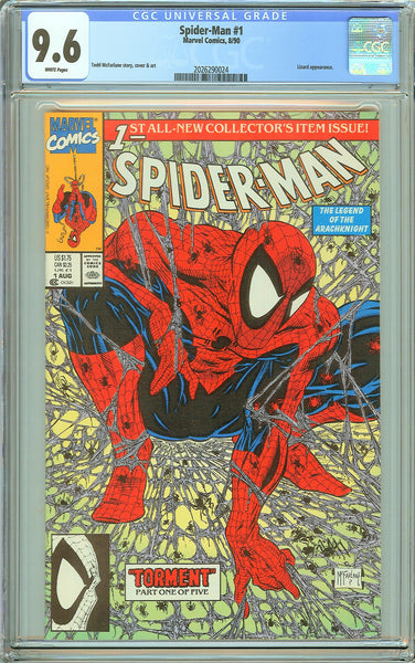 Spider-Man #1 CGC 9.6 White Pages (1990) 2026290024