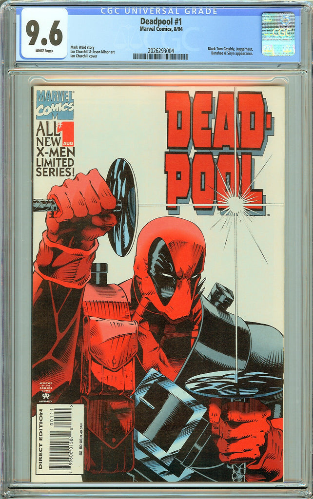 Deadpool #1 CGC 9.6 White Pages (Limited Series 1994) 2026293004