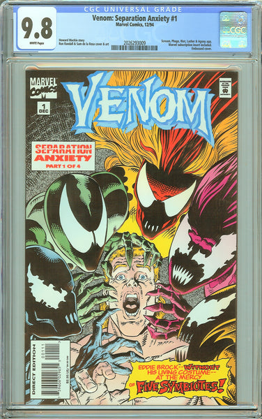 Venom Separation Anxiety #1 CGC 9.8 White Pages 2026293009