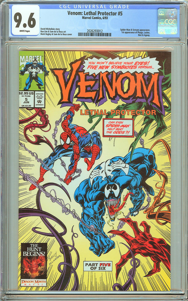 Venom Lethal Protector #5 CGC 9.6 White Pages 2026293012 Marvel Movie