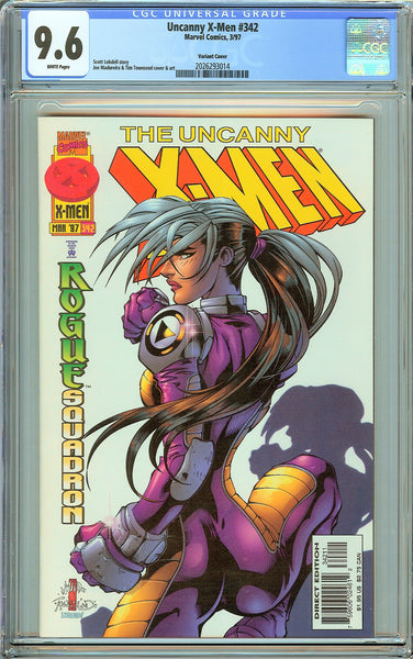 Uncanny X-Men #342 CGC 9.6 White Pages (1997) 2026293014 Rogue Variant