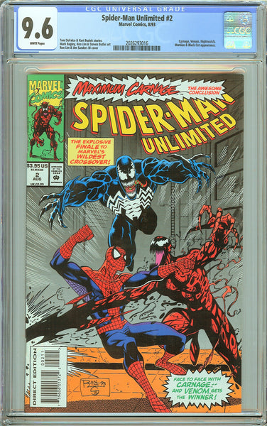 Spider-Man Unlimited #2 CGC 9.6 White Pages 2026293016