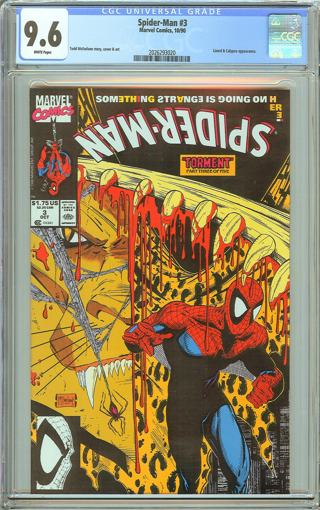 Spider-Man #3 CGC 9.6 White Pages (1990) 2026293020