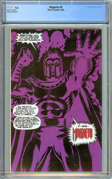 Magneto #0 CGC 9.8 White Pages (1993) 2026293022