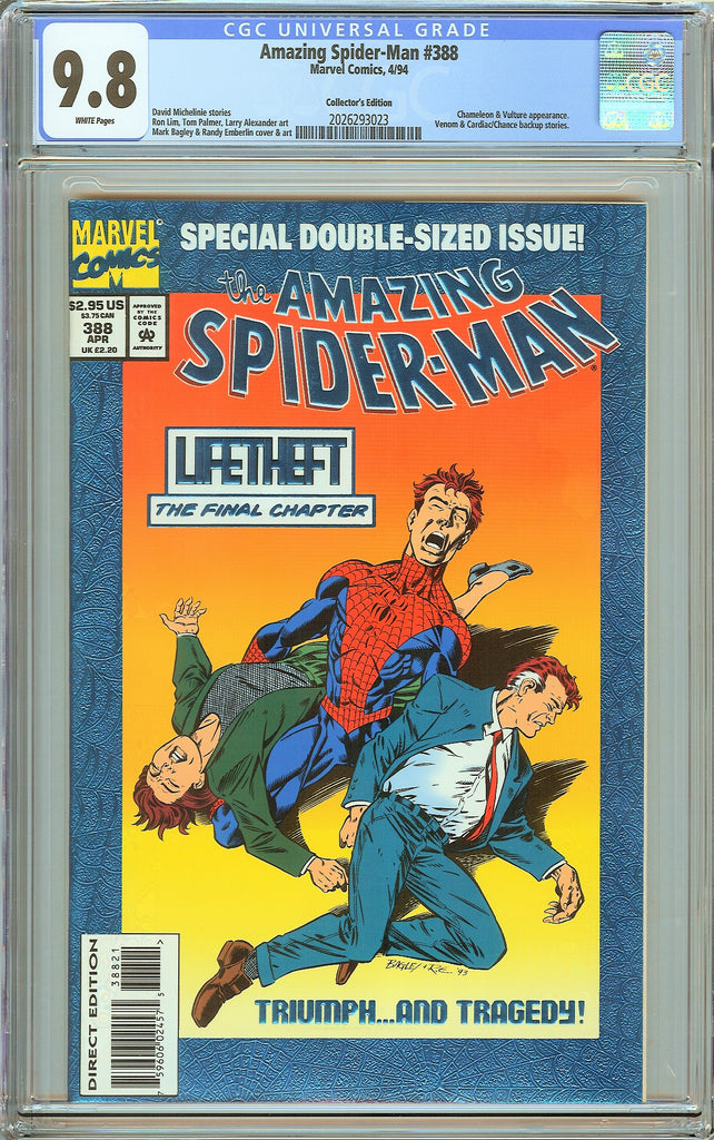 Amazing Spider-Man #388 CGC 9.8 White Pages 2026293023 Collectors Edition