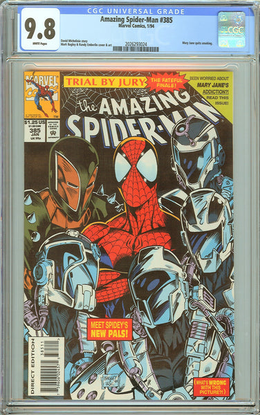 Amazing Spider-Man #385 CGC 9.8 White Pages (1994) 2026293024