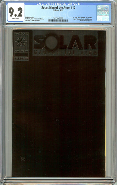 Solar, Man of the Atom #10 CGC 9.2 White Pages ( 1992 ) 2027840002