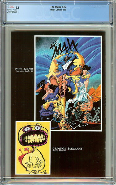 Maxx #35 CGC 9.8 White Pages (1998) 2027840004 Last Issue