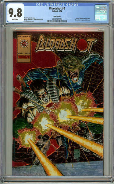 Bloodshot #0 CGC 9.8 White Pages ( 1994 ) 2027840006 Gold Edition