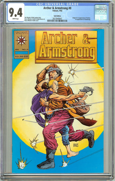 Archer & Armstrong #0 CGC 9.4 White Pages ( 1992 ) 2027840007 Gold Edition