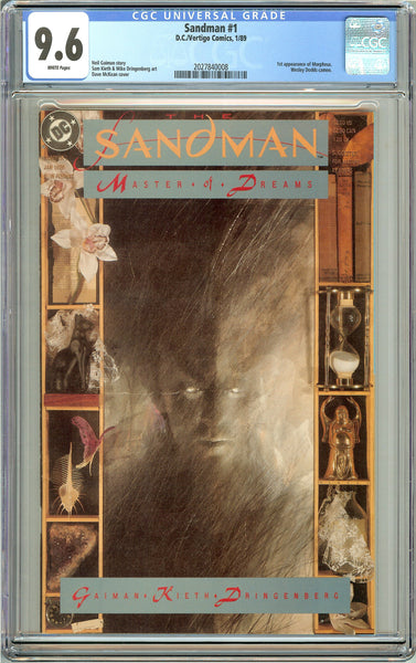 Sandman #1 CGC 9.6 White Pages (1989) 2027840008