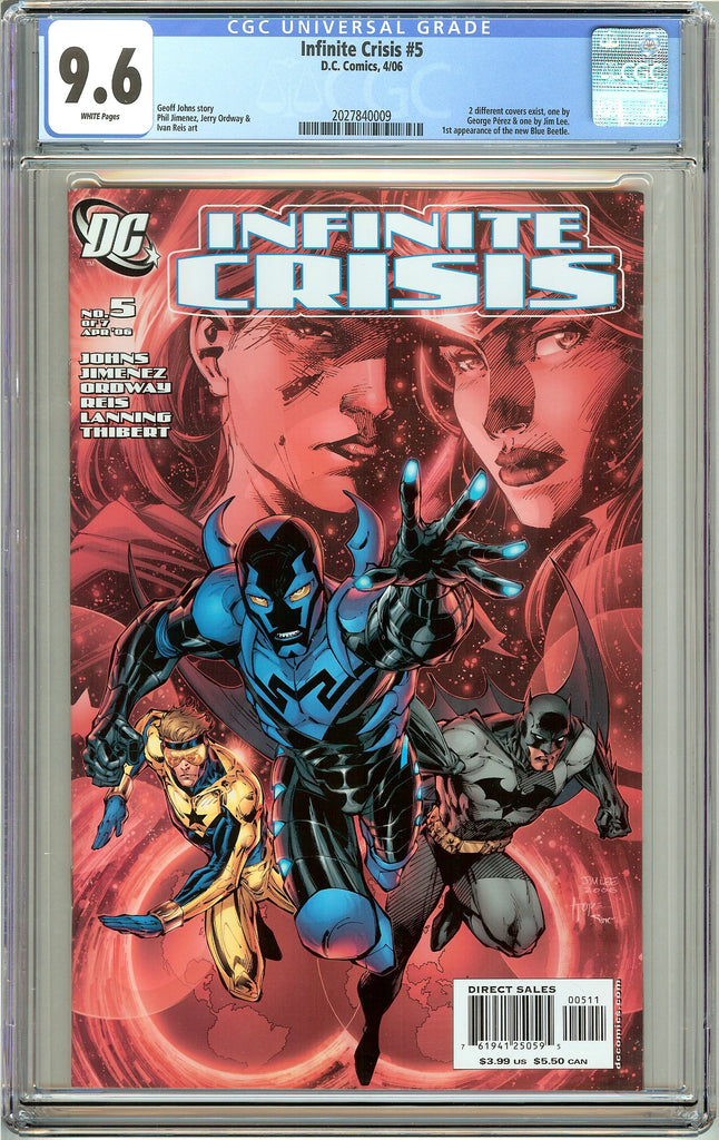 Infinite Crisis #5 CGC 9.6 White Pages 2027840009 Jim Lee Cover