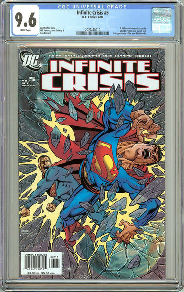 Infinite Crisis #5 CGC 9.6 White Pages 2027840010 Perez Cover
