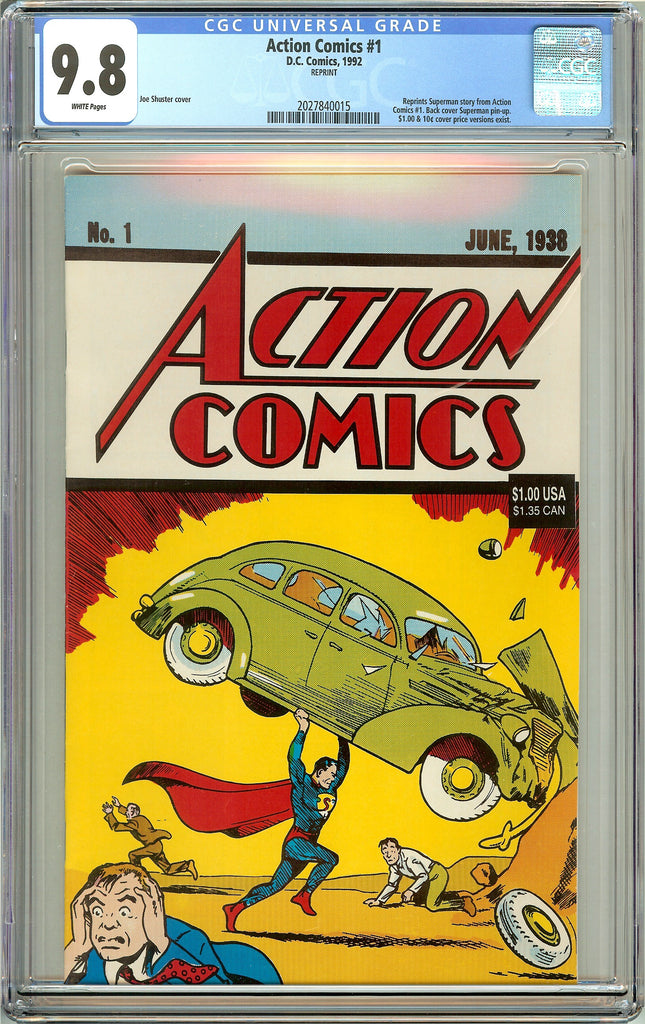 Action Comics #1 CGC 9.8 White Pages (1992) 2027840015 Reprint