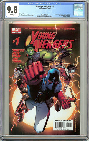 Young Avengers #1 CGC 9.8 White Pages (2005) 2027840016