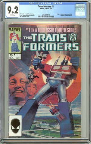 Transformers #1 CGC 9.2 White Pages (1984) 2027840018
