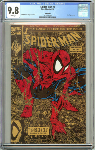 Spider-Man #1 CGC 9.8 White Pages 2027840020 Gold Edition 1990