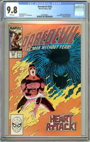 Daredevil #254 CGC 9.8 White Pages (1988) 2027840021 1st Typhoid Mary