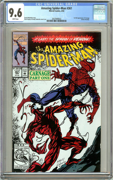 Amazing Spider-Man #361 CGC 9.6 White Pages (1992) 2027840022