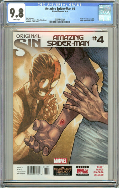 Amazing Spider-Man #4 CGC 9.8 White Pages (2014) 2027840024
