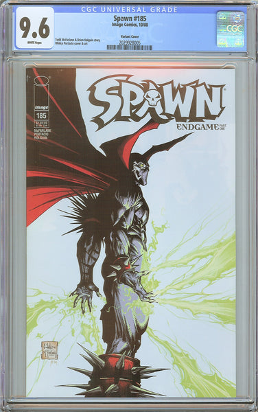 Spawn #185 CGC 9.6 White Pages 2029928005 Portacio Variant Cover