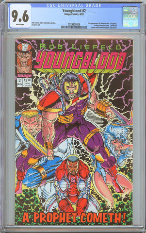 Youngblood #2 CGC 9.6 White Pages (1992) 2029928006
