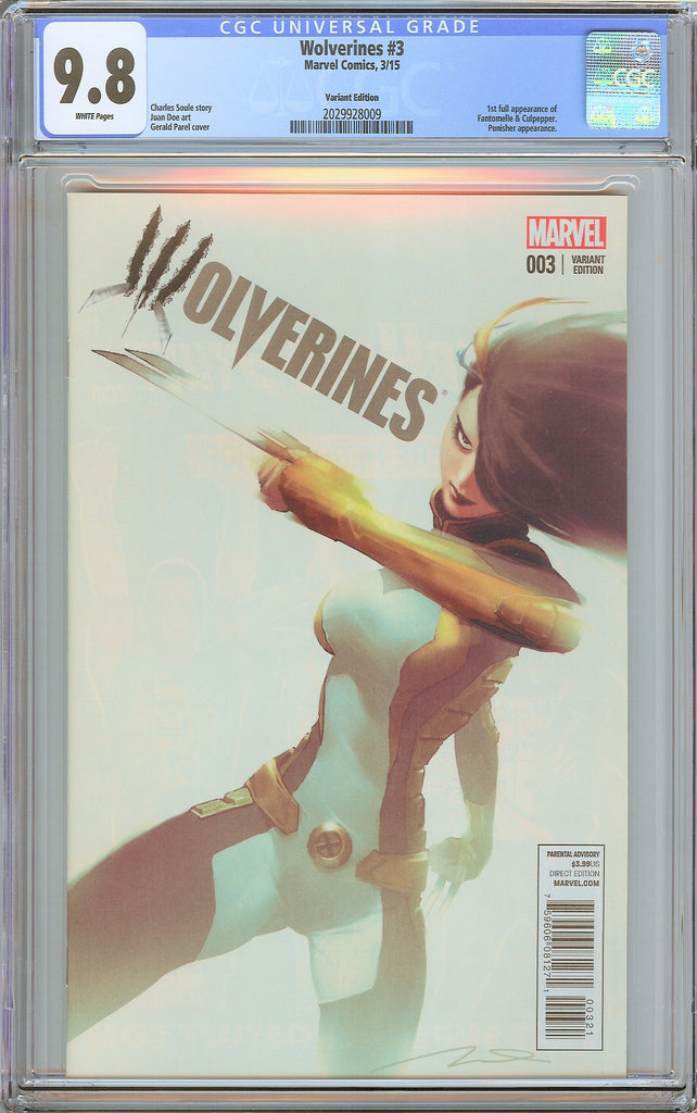 Wolverines #3 CGC 9.8 White Pages 2029928009 Variant Edition