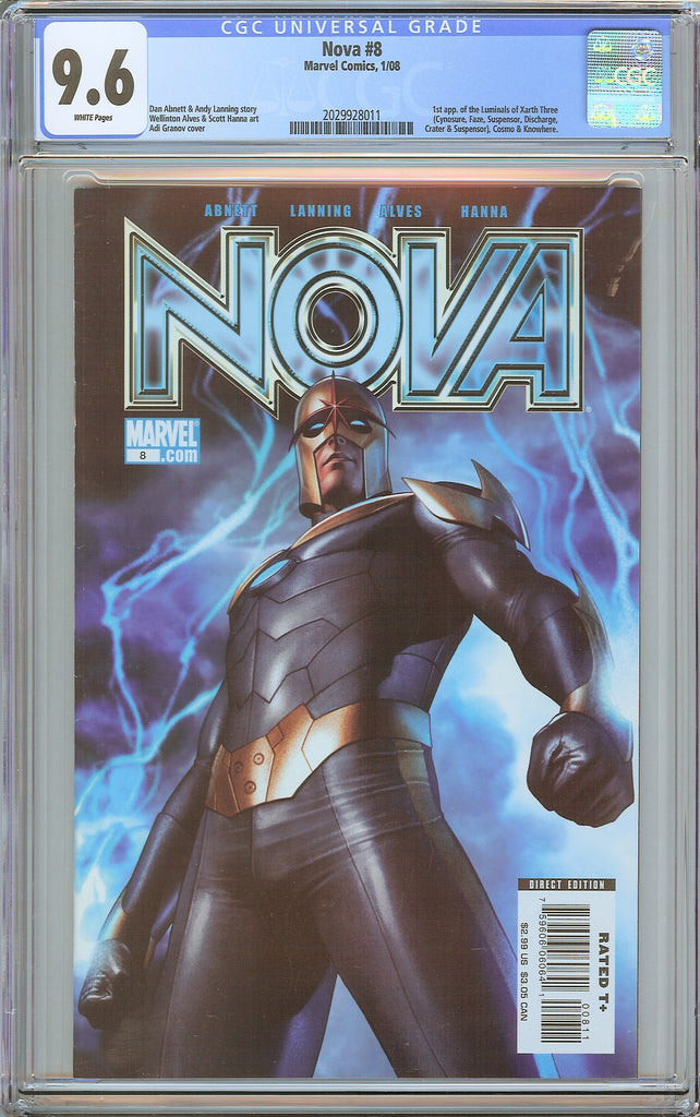 Nova #8 CGC 9.6 White Pages (2008) 2029928011