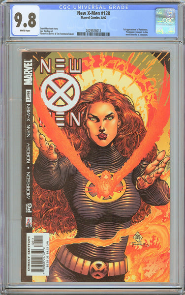 New X-Men #128 CGC 9.8 White Pages 2029928012 1st Fantomex
