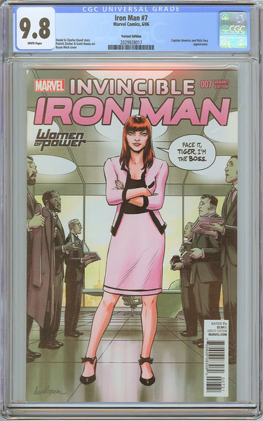 Iron Man #7 CGC 9.8 White Pages 2029928017 Variant Edition
