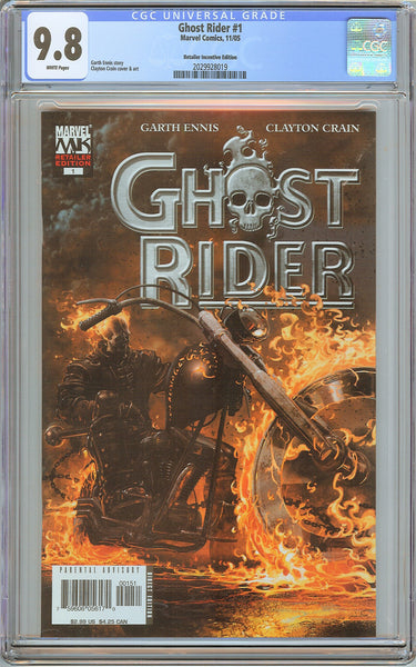 Ghost Rider #1 CGC 9.8 White Pages 2029928019 Retailer Incentive Edition