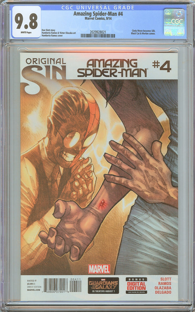 Amazing Spider-Man #4 CGC 9.8 White Pages (2014) 2029928021