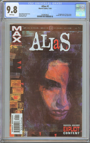 Alias #1 CGC 9.8 White Pages (2001) 2029928022 1st Jessica Jones