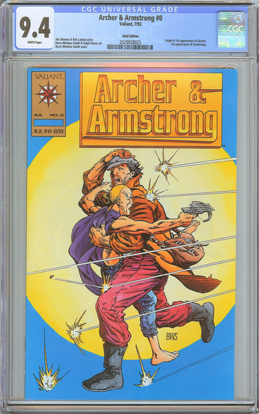 Archer & Armstrong #0 CGC 9.4 White Pages (1992) 2029928025 Gold Edition