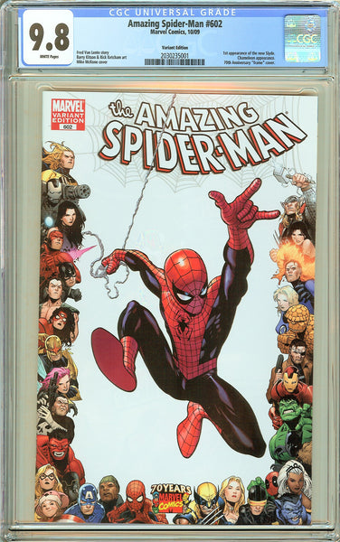 Amazing Spider-Man #602 CGC 9.8 White Pages 2030235001 Variant Edition