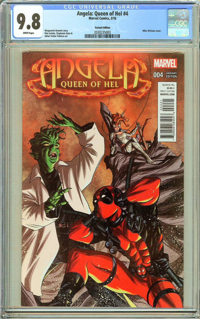Angela Queen of Hel #4 CGC 9.8 White Pages 2030235003 Variant Edition